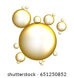 bubbles oil on isolated... | Shutterstock .eps vector #651250852