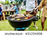 steak barbecues cooking... | Shutterstock . vector #651254308