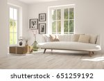 white room with sofa and green... | Shutterstock . vector #651259192
