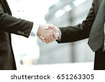 business partnership meeting... | Shutterstock . vector #651263305
