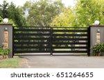 Black Metal Driveway Entrance...
