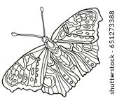 butterfly. coloring book for...   Shutterstock .eps vector #651273388
