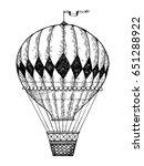 vintage air balloon engraving...   Shutterstock .eps vector #651288922