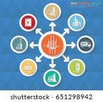 oil industry info graphic... | Shutterstock .eps vector #651298942