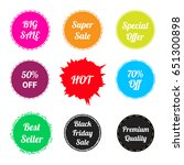 set of sale label or sticker... | Shutterstock .eps vector #651300898