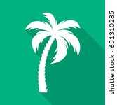 white vector palm tree flat... | Shutterstock .eps vector #651310285