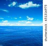 cloudy sky and sea. sea summer... | Shutterstock . vector #651316975