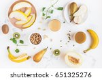 fresh smoothie with pear ... | Shutterstock . vector #651325276
