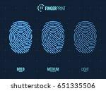 vector fingerprint icons set ... | Shutterstock .eps vector #651335506