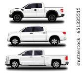 realistic car. pickup set. | Shutterstock .eps vector #651335515