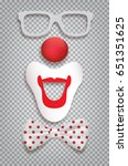 clown accessories isolated on...   Shutterstock .eps vector #651351625
