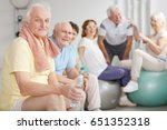 group of tired elderly people... | Shutterstock . vector #651352318
