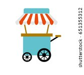 fast food car with delicious... | Shutterstock .eps vector #651355312