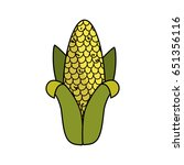 delicious cob to eat organic... | Shutterstock .eps vector #651356116