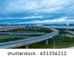 the city road  the busy night... | Shutterstock . vector #651356212