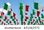 many flags of italy on... | Shutterstock . vector #651362572