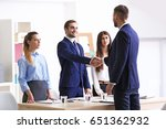 employer and applicant shaking... | Shutterstock . vector #651362932