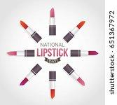 national lipstick day vector... | Shutterstock .eps vector #651367972