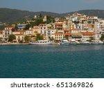beautiful greek town. | Shutterstock . vector #651369826