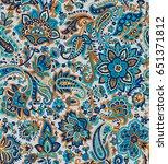 paisley seamless pattern | Shutterstock . vector #651371812