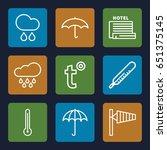 meteorology icons set. set of 9 ... | Shutterstock .eps vector #651375145
