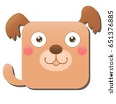 cute square dog. vector...