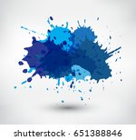 Colorful paint splatters.Paint splashes banner.