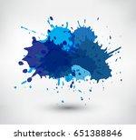 colorful paint splatters.paint... | Shutterstock .eps vector #651388846