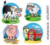 Various Farm Animals 1   Vecto...