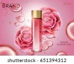 camellia hydrating toner... | Shutterstock .eps vector #651394312