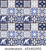 blue portuguese tiles pattern   ... | Shutterstock .eps vector #651401902