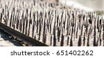 metal stakes as background | Shutterstock . vector #651402262
