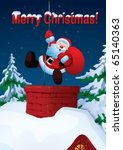 santa claus descends the...   Shutterstock .eps vector #65140363