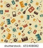 background seamless. retro... | Shutterstock . vector #651408082