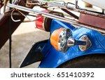 vintage lamp  motorcycle. | Shutterstock . vector #651410392