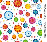 floral pattern made in flowers... | Shutterstock .eps vector #651429706