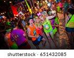 full moon party oct 30  2012 ... | Shutterstock . vector #651432085