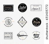 retro clothing badges in... | Shutterstock .eps vector #651435772