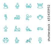 set of 16 relatives outline... | Shutterstock .eps vector #651435952