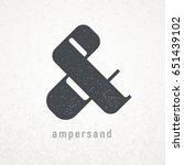 ampersand. elegant vector...   Shutterstock .eps vector #651439102