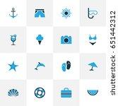 season colorful icons set.... | Shutterstock .eps vector #651442312