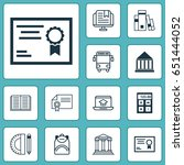school icons set. collection of ... | Shutterstock .eps vector #651444052
