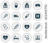 antibiotic icons set.... | Shutterstock .eps vector #651445792