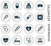 antibiotic icons set.... | Shutterstock .eps vector #651445792