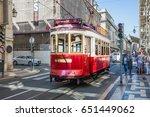 lisbon  portugal   october ... | Shutterstock . vector #651449062
