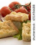 italian rustic appetizer  tasty ...   Shutterstock . vector #651456688