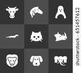 set of 9 zoology icons set... | Shutterstock .eps vector #651457612