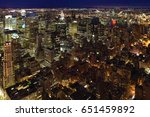a night view of midtown... | Shutterstock . vector #651459892
