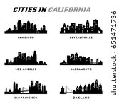 california silhouette   cities