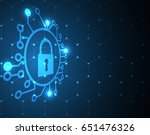 cyber security and information... | Shutterstock .eps vector #651476326